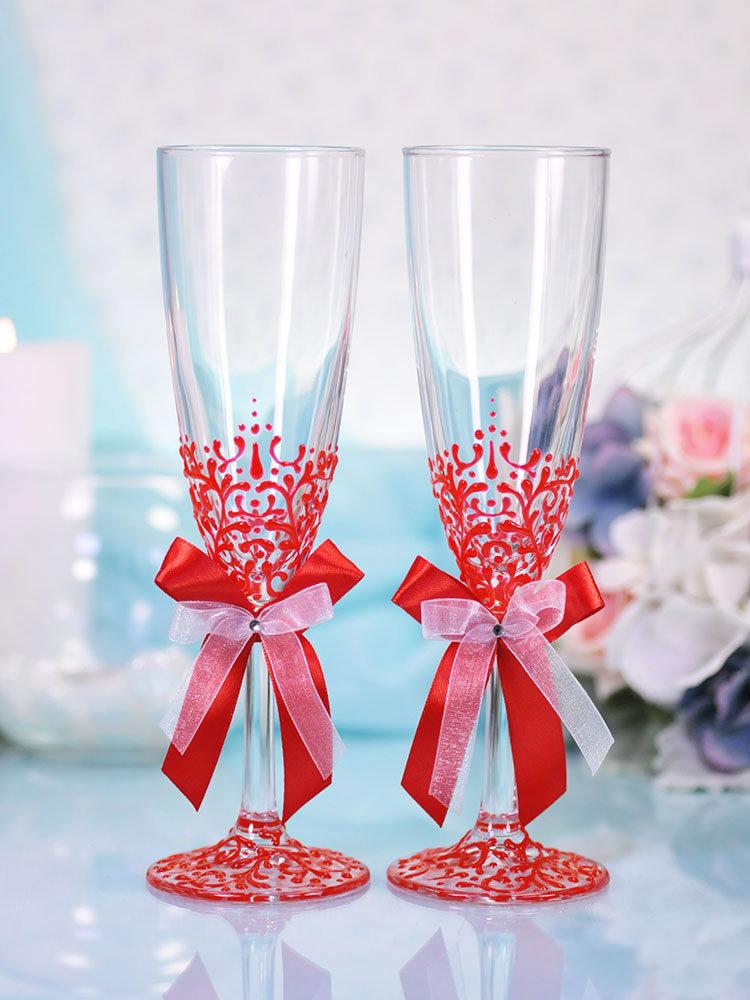 фото бокалов на свадьбу ручной работы позволила алене восстановить